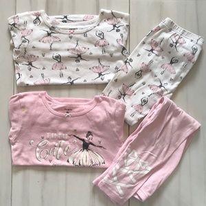 4T Ballerina Pajamas Sets